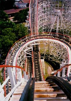 The Texas Cyclone.  Astroworld - Houston, Texas. Now Closed.