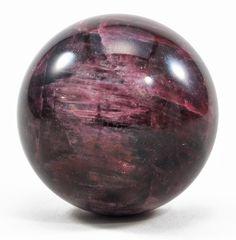 Cat's Eye Rubelite Tourmaline 1.67 inch 121 gram Gem Crystal Sphere - Russia