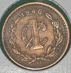 delaware 1946   México: Un Centavo de 1946 (Monograma)