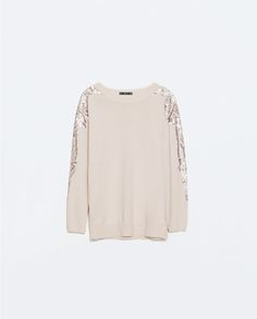 ZARA - WOMAN - SEQUIN APPLIQUE SWEATER