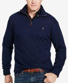 Polo Ralph Lauren Big & Tall Men's Estate Rib Half-Zip Sweater - Cruise Navy 2XB