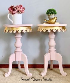 Here at Second Chance Studios we specialize in beautiful hand painted vintage furniture and decor. Pink Furniture, Hand Painted Furniture, Metal Furniture, Shabby Chic Furniture, Vintage Furniture, Painting Furniture, Shabby Chic Side Table, Shabby Chic Farmhouse, Rustic Chic