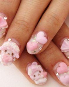 3D nails-- POODLES!!!