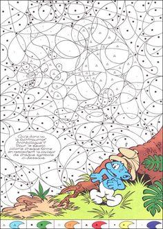 coloriage Coloriage magique les Schtroumpf