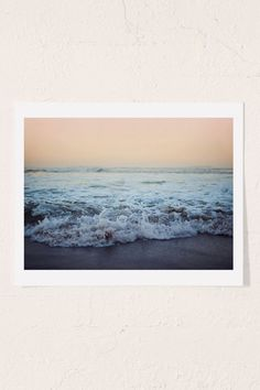 Slide View: Leah Flores Crash Into Me Art Print// black wood frame Polaroid Frame, Polaroids, Ocean Wallpaper, Apple Wallpaper, Pastel Wallpaper, Polaroid Pictures, Wood Molding, Recycled Wood, Wall Prints