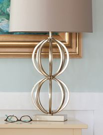 Really pretty table lamp. Modern. Classic