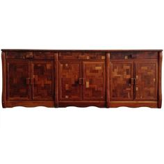 Don Shoemaker Wooden Credenza | From a unique collection of antique and modern credenzas at https://www.1stdibs.com/furniture/storage-case-pieces/credenzas/