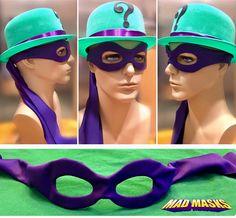 Riddler Zero Year Mask Leather base with textile overlay