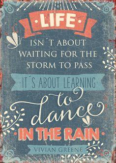 Postkarte - Dance in the rain