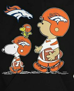 ❤️Charlie Brown and his gang aren't afraid to go Broncos❤️