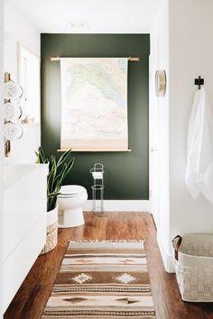 gorgeous boho bathroom design for the home - Modern Green Bathroom Decor, Boho Bathroom, Modern Bathroom, Bathroom Ideas, Green Bathrooms, Bathroom Things, Earthy Bathroom, 1920s Bathroom, Bathroom Organization