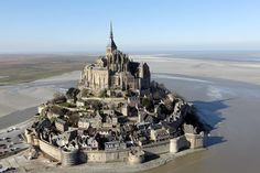 Known for looking like something out of a fairytale, Mont Saint-Michel is a tidal island in France outside of Normandy with a population of 41 people.