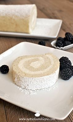 Whipped Cream Cake Roulade (the whipped fat adds volume and moistness and the result is a light and tender cake. The cake is perfect with just about anything fruity, be it citrus curds, a drizzle of a thick fruit coulis, or fresh from the garden berries. Cake Roll Recipes, Dessert Recipes, Jelly Roll Cake, Whipped Cream Cakes, Let Them Eat Cake, Yummy Cakes, Just Desserts, Cupcake Cakes, Cupcakes