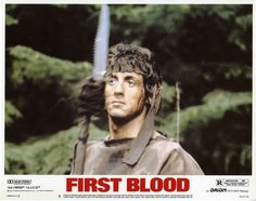 first blood, sylvester stallone, lobby card