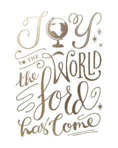 Joy to the World by Griffinbell Paper Co. for Minted