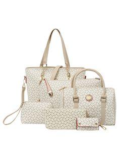 01a3385b7618 Shop Printd Faux Leather 6PCS Bag Set online. SheIn offers Printd Faux  Leather 6PCS Bag