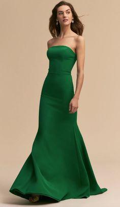 Bhldn tess dress emerald in occasion dresses bhldn future pu Gala Dresses, Dress Outfits, Evening Dresses, Dress Up, Dress Prom, Dress Wedding, Flare Dress, Green Party Dress, Green Dress
