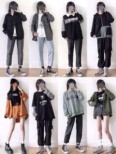 Korean Fashion Styles, Korean Outfit Street Styles, Korean Girl Fashion, Ulzzang Fashion, Korean Street Fashion, Korean Outfits, Korea Fashion, Korean Style, Kpop Fashion Outfits