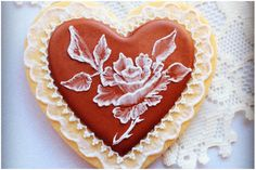 Valentine's Day cookie...Icing Rose