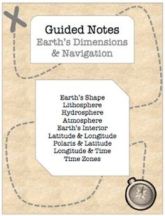 This Earth's Dimensions and Navigation EDITABLE NOTES BUNDLE for Earth Science Regents classes includes: - 21 page guided notes with essential questions, visual aids, and checkpoint questions for students. (Word & PDF)- 21 page answer key for teachers (Word & PDF)- 138 slide PowerPoint Presentation with custom animations, links to web animations, and color-coded notes (students copy the blue!).