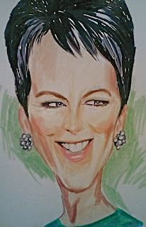 Caricature in watercolor