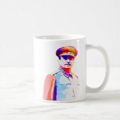 Vintage Joseph Stalin WW2 Russia Dictator Colorful Coffee Mug - home decor design art diy cyo custom
