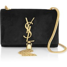 Saint Laurent Cassandre small suede shoulder bag found on Polyvore
