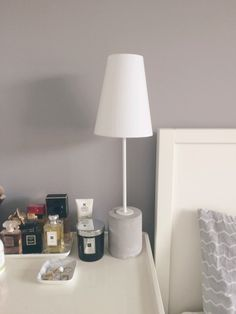 The Ira Table Lamp in White.