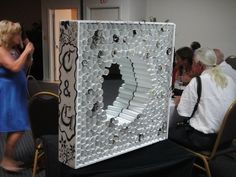 another image of the memory wall I created... mirror in the middle