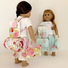 Doll SLEEPOVER SET for American Girl ®, 18-inch Dolls Includes backpack, bedroll…