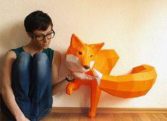 17 Beautiful Polygonal Animal Paper Sculptures By Wolfram Kampffmeyer
