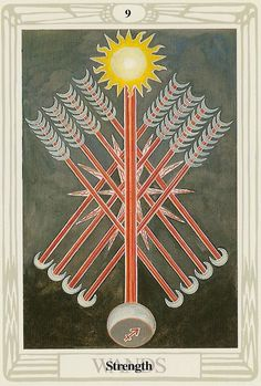 Nine of Wands ~ Thoth