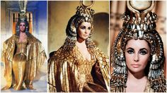 In celebration of the release of the #Cleopatra 50th Anniversary Blue-ray/DVD, a look at Elizabeth Taylor's iconic gold ceremonial costume. This look was featured prominently as she dramatically entered Rome. Costume Designers: Renie Conley, Vittorio Nino Novarese and Irene Sharaff. Tyranny of Style.