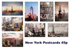 Brand new colourful postcards available at each. Perfect for New York pages and projects. Travel Scrapbook, Scrapbook Albums, Scrapbook Paper, New York Scrapbooking, New York Travel, Postcards, Layouts, Sunshine, Photo Wall