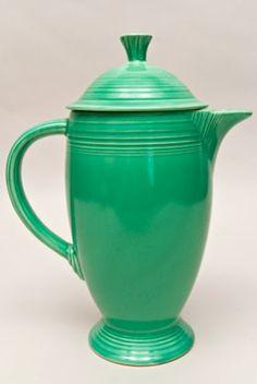 Fiesta Vintage Original Green Coffee Pot: Fiestaware Pottery For Sale