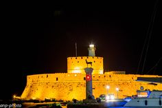 Rhodes' castle by night by Andreas Pantziarides on 500px