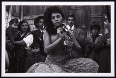 Dancer Antonia 'La Singla', Barracas de Montjuich,Barcelona, España, 1963. Photo by 'Colita' (Isabel Steva Hernández)