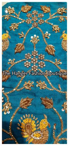 Latest designer blouses by The Hanger Fashion Boutique - 9490192436 Hand Work Embroidery, Embroidery Designs, Velvet Shawl, Velvet Hangers, Boutique Design, Bridal Outfits, Fashion Boutique, Blouse Designs, Traditional Fashion