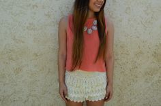 Just Peachy Spring Easter Outfit by WorldWideStylista