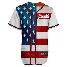 Shirt: american flag american flag jersey baseball jersey jersey dress... ❤ liked on Polyvore featuring tops, t-shirts, shirts, dresses, star print t shirt, usa flag shirt, usa flag t shirt, summer tops and tee-shirt