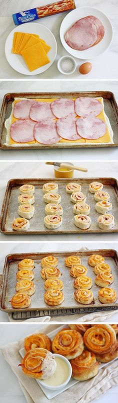 Ham-and-Cheese-Pretzel-Bites - snack appetizer I Love Food, Good Food, Yummy Food, Yummy Yummy, Pretzel Cheese, Ham And Cheese, Cheddar Cheese, Cheese Food, Cheese Party
