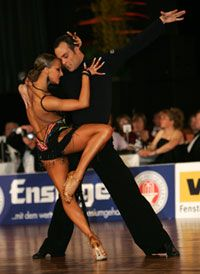 Franco Formica and Oxana Lebedew. Visit http://ballroomguide.com/workshop/latin.html for info about Latin workshops from the pros.