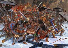 Medieval warriors of Holy Russia by the master Aleksandr Averyanov.