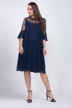 Originală și elegantă, rochia camuflează delicat zonele pe care nu dorești să le evidențiezi, conferindu-ți în același timp un aer diafan și extrem de feminin. Confecționată din voal, rochia midi albastră îmbină liniile fluide ale designului cu senzualitatea texturii prețioase a dantelei, aplicată pe tull, de la umeri și mâneci. Materiale: voal, tul brodat si capruseala inchidere cu nasturel la spate croi lejer Cold Shoulder Dress, Plus Size, Dresses, Products, Fashion, Tulle, Vestidos, Moda, Fashion Styles