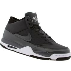 black and grey nike flights