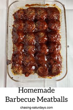 Homemade Barbecue Meatballs - Chasing Saturday's - These are the best Homemade Barbecue Meatballs, Ever! This homemade meatball recipe is so simple. Easy Meat Recipes, Supper Recipes, Ground Beef Recipes, Easy Meals, Cooking Recipes, Hamburger Meatball Recipe, Grilling Recipes, Chicken Pot Pie Recipe Crockpot, Easy Hamburger Meat Recipes