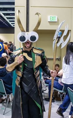 from a set of comic-con photos done with giant googly-eyes... HAHAHA