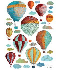 """""""Mongolfiere"""" #hot air ballons d'altri tempi. Come nella linea Crystal di www.federicalunello.com"""