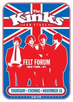 THE KINKS 16 November 1972 New York retro artistic by tarlotoys