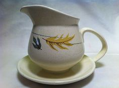 Vintage FRANCISCAN AUTUMN Leaves Gravy Boat & Attached Underplate (USA)  $23.99